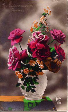 RPPC Beautifully hand tinted postcard