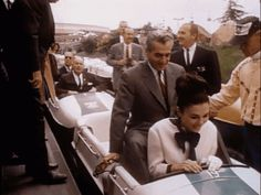 Shah of Iran & Walt Disney Riding a Bobsled (animated GIFs)