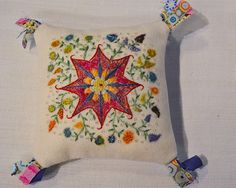 Pin cushion for needles. Embroidery by Jackie Eketorp, photo by iHanna - Hanna Andersson, 2013 #broderi