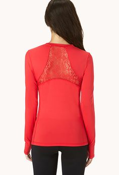 Lace Back Workout Top