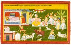 The Birth of Krishna. Illust. from the MahaBharata. Mewar, 1710. @DalrympleWill @ambrin_hayat @Chemburstudio @zpr27