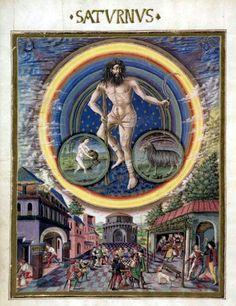 de sphaera. Saturn, ruler of Aquarius and Capricorn.