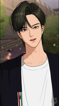 Anime Korea, Korean Anime, Cha Eun Woo, Handsome Anime Guys, Cute Anime Guys, Angel Wallpaper, Angel Aesthetic, Webtoon Comics, Couple Cartoon