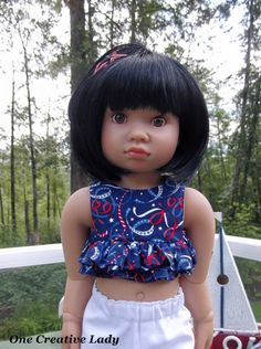 """Red White Blue by OCL for 18"""" Kidz N Cats Dolls 