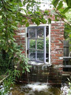 Detail of a garden setup in Old Louisville