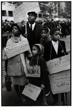 New York City. 1962. Ruby DEE, Ossie DAVIS, and their children protest at a CORE (Congress of Racial Equality) peace demonstration.