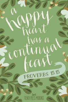 French Press Mornings Print - Proverbs 15:15 #encouragingwednesdays #fcwednesdaywisdom #quotes