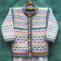 Ravelry: Jellybean Cardigan pattern by Annie Dempsey Cardigan Pattern, Baby Cardigan, Jacket Pattern, Knitting For Kids, Double Knitting, Baby Knitting Patterns, Knit Baby Sweaters, Sweaters For Women, Knitting Needle Case