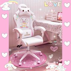 Cute Bedroom Decor, Room Ideas Bedroom, Girls Bedroom, Gaming Room Setup, Gaming Chair, Monkey Room, Tech Room, Dream Desk, Game Room Design