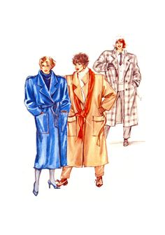 Neue Mode 20641 Oversized Coat with Tie Belt and Pocket Variations, Uncut, Factory Folded Sewing Pattern Multi Size Coat Patterns, Sewing Patterns, Spanish Pattern, Oversized Coat, Belt Tying, Winter Coat, 1980s, Size 12, Coats