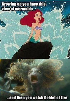 HP ruined the Little Mermaid for me... until I realized that HP memaids are FRESH water. I imagine a thousand years of inbreeding in a lake would do that to a creature.