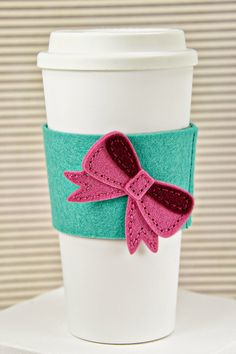 Bow Coffee Sleeve by Erin Lincoln for Papertrey Ink (October 2014)