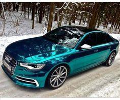 Tiffany blue car