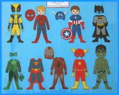 SUPER HERO Felt Board Set  AWESOME gift for by StorytellingFun, $13.00