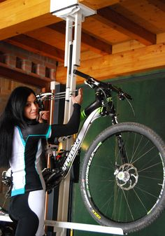 flat-bike-lift enables bikers to store their bike safely in the horizontal overhead position, so to get the room totally free. Order Now!