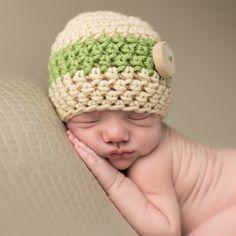 Earthy Baby Boy Wooden Button Beanie d920b82992f9