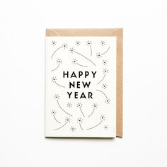 Michoucas Design Happy New Year Greeting Card