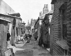 Old Photo - Slum Dwellings-Slum housing in Camberwell. Taken from a book by Wal Hannington. Source: The Problem of the Distressed Areas, 1937