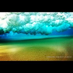 Underwater clouds. The water was so clear this morning. - #ocean #waves #art #nature #surfing #maui #underwater..... gokenji.com