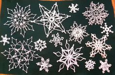 crocheted snowflakes Love these! I made dozens of similar ones 25 to 30 years ago and have given almost all of them away to admirers. I got out the original book and am happily making myself and my daughters new sets!