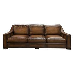 Jake Leather Sofa in Tri-tone Whiskey | Nebraska Furniture Mart