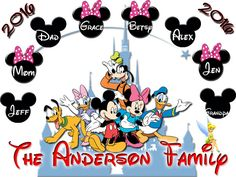 Personalized Disney Mickey Mouse Disney World Family Vacation Shirt Minnie Mouse T-shirt Check out ineedamousepad.com for tons of great choices for birthday shi