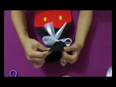 Saco para presente Mickey - Virtuosa Artesanato