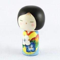 Kokeshi Doll Wild Flowers (K12-3818)