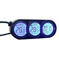 Multifunctional Blue Backlight LCD Screen Car In /Out Thermometer And Calendar Clock