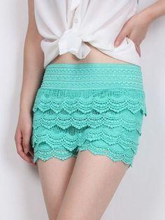 Sexy Lace Pachwork Shorts #ClothingOnline #PlusSizeWomensClothing #CheapClothing #FashionClothing #womenswear #sexydress #womensdress #womenfashioncasual #womensfashionforwork  #fashion #womensfashionwinter