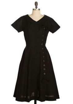vintage black dress from modcloth