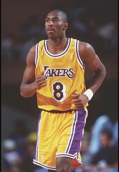 b442fe1f3 Young Kobe with the sick old school Laker jersey. Kobe Bryant 8