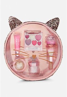 Find girls' makeup & makeup sets that are fun & easy to use! Shop products such as lip gloss, eye shadow & lip palettes, bronzers, powder, makeup bags & more. Makeup Kit For Kids, Kids Makeup, Cute Makeup, Makeup Set, Justice Accessories, Barbie Accessories, Justice Makeup, Glossy Makeup, Gold Makeup