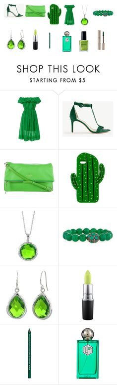 """""""Paris-Fashion-Women-Green-Color"""" by ibur-7snowflakes ❤ liked on Polyvore featuring beauty, Paule Ka, Ann Taylor, Kate Spade, Sarina, Bavna, MAC Cosmetics, NYX, La Parfumerie Moderne and By Terry"""