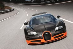 Bugatti Veyron Super Sport is equipped with an 8-Liter Quad-Turbo W16 Engine  capable of generating a torque of 1,106 lb-ft and horsepower 1,200 HP   #toys #rich #gifts #expensive #wealthy #supercars