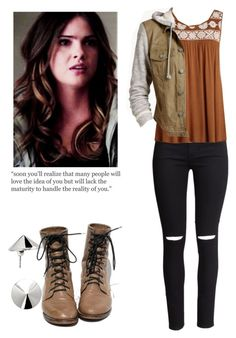 Malia Tate - tw / teen wolf by shadyannon on Polyvore featuring polyvore fashion style Tinseltown H&M Vélizance clothing