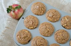 Healthy Cinnamon Apple Muffins Recipe - great recipe for fresh-picked apples!
