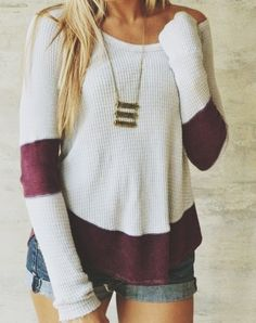 Sweater + necklace