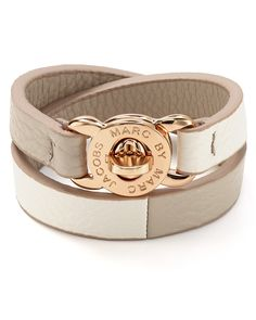 MARC BY MARC JACOBS Katie Double Wrap Leather Bracelet | Bloomingdales