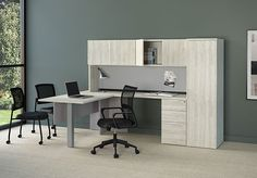 Delivered in 2 weeks!  This beautiful L shape office with storage options and silver post leg is priced very well.  Email Margie at margie@inspireyourspace.ca and I can help you find the size, storage, and color that fits your space and budget. Office Furniture, Furniture Design, Work Surface, Wow Products, Very Well, Your Space, Contemporary, Modern, Corner Desk