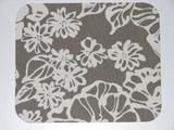 Large Floral Print Muted Grey/Gray and Cream/Ivory Mouse Pad High Quality - Simply Chic Gal
