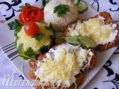 Tejfölös-sajtos, rántott szelet recept