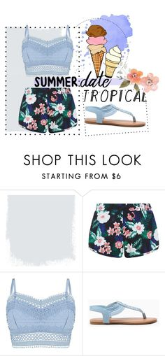 """""""Summer tropic"""" by alinka-titova ❤ liked on Polyvore featuring New Look, Lipsy, statefair and summerdate"""
