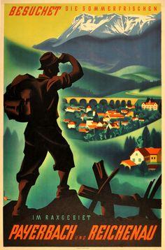 Original Vintage Posters -> Travel Posters -> Austria Payerbach Reichenau - AntikBar