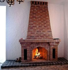 Build A Fireplace, Home Fireplace, Brick Fireplace, Fireplace Mantels, Stone Electric Fireplace, Loft Plan, Beautiful Home Designs, Inviting Home, Brick Patios