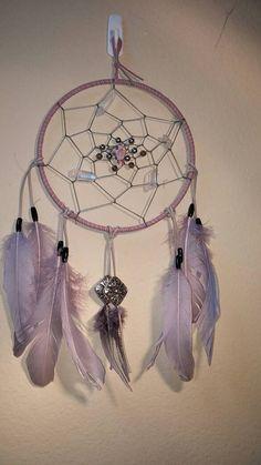 Lakota Sioux Dream Catcher  Violet Fog  by LittleFoxDesignGifts