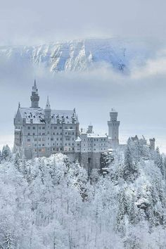 Neuschwanstein castle, Bavaria, Germany. - history post - Imgur Winter Szenen, Winter Travel, Winter House, Snow Castle, Sleeping Beauty Castle, Neuschwanstein Castle, Beautiful Castles, Beautiful Places To Travel, Travel Aesthetic