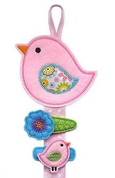 Hair Clips/Holder Set- TWEET BIRDS