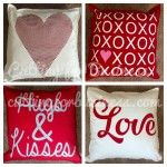 Valentine's Pillows by cuttingforbusiness.com