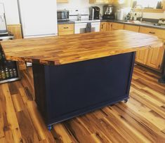 Meticulously custom kitchen island to match this island lake house openshelving Kitchen Island Decor, Modern Kitchen Island, Ikea Kitchen, How To Remove Kitchen Island, Kitchen Islands, Kitchen Island On Wheels With Seating, Homemade Kitchen Island, Rustic Kitchen, Kitchen Ideas